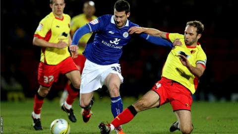 David Nugent (centre) in action for Leicester