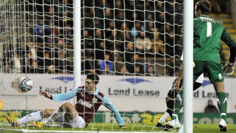 Jay Rodriguez scores for Burnley