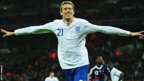 England and Stoke City striker Peter Crouch
