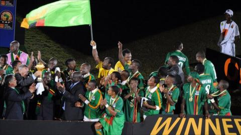 Zambians lift the Africa Cup of Nations on Sunday