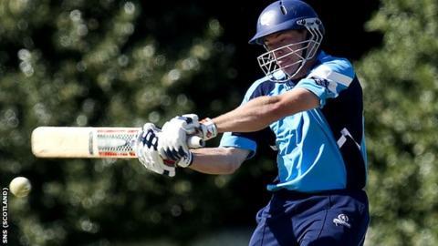 Scotland batsman Richie Berrington