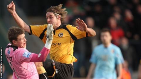 Sam Foley scores for Newport