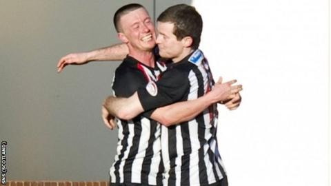 Joe Cardle (left) gave Dunfermline the lead against Inverness