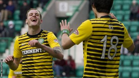 Stokes and Ki both scored against Hibs at Easter Road