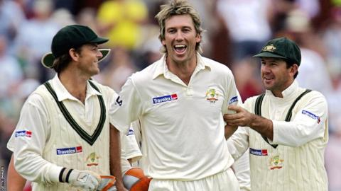 Adam Gilchrist, Glenn McGrath and Ricky Ponting