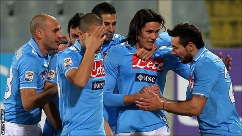 Napoli celebrate a goal