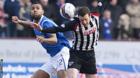 Facing Dunfermline could have been Bartley's (left) last game for Rangers