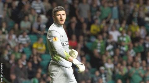 Celtic goalkeeper Lukasz Zaluska