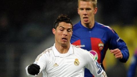 Cristiano Ronaldo and Pontus Wernbloom