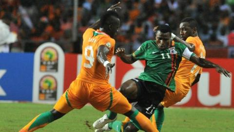 Ivory Coast's Cheik Tiote in the final of the Africa Cup of Nations