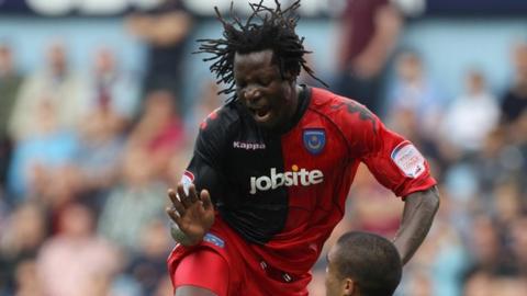 Zimbabwe's Benjani Mwaruwari in action for Portsmouth