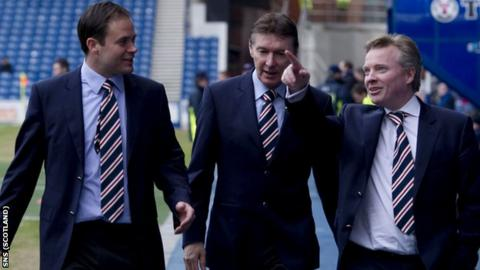 From left: Ali Russell, Gordon Smith and Craig Whyte