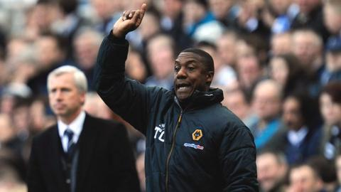 Terry Connor (foreground) with Alan Pardew (background)