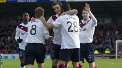 Davis, Little and Kerkar all scored for Rangers at Caledonian Stadium