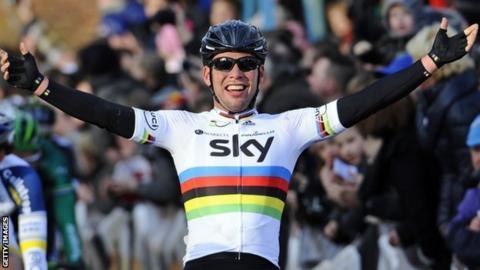 Mark Cavendish winning in Belgium