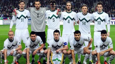Slovenia are Scotland's opponents on Wednesday