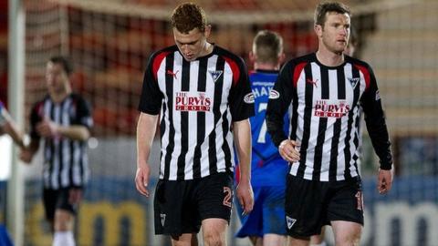 Dunfermline sit bottom of the Scottish Premier League