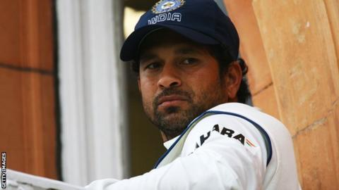 Sachin Tendulkar on the Lord's balcony in 2007