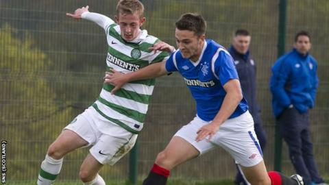 Chris Hegarty (right) is in Rangers' squad