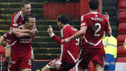 Aberdeen held Celtic to a 1-1 draw at Pittodrie