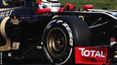 Kimi Raikkonen in the Lotus