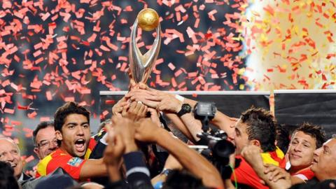 Esperance of Tunisia celebrate winning the African Champions League in 2011