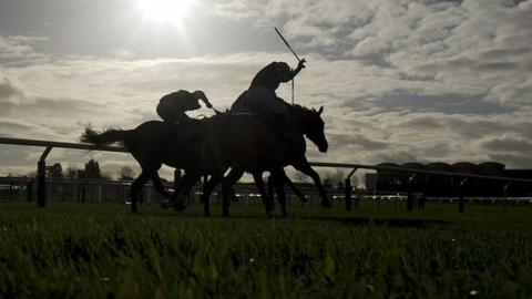 Jockeys in action