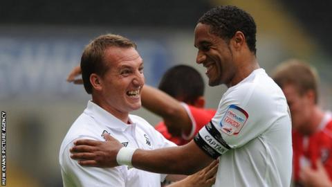 Brendan Rodgers and Ashley Williams