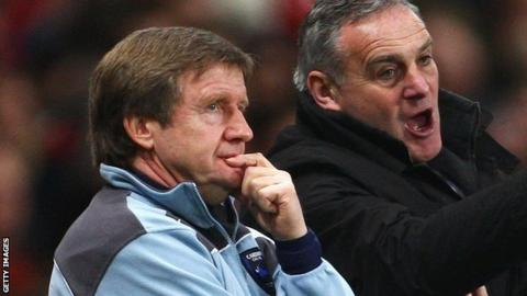 Terry Burton (left) has re-joined Dave Jones at Sheffield Wednesday