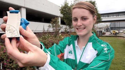 Ciara Mageean with her silver medal won at last year's European Junior Championships