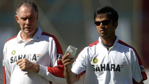 Greg Chappell and Rahul Dravid