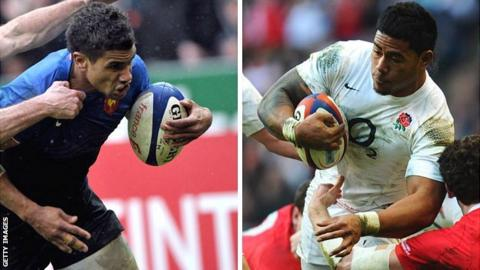 Tyro France centre Wesley Fofana and England counterpart Manu Tuilagi