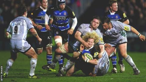 Leicester hold off Bath to reach the LV= Cup final