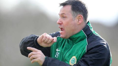 Donegal Celtic manager Stephen Small