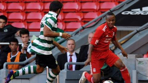 Raheem Sterling and Joao Carlos Texeira