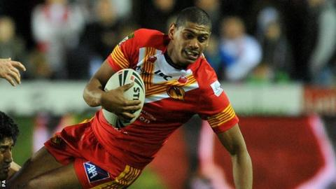 Leon Pryce helped Catalan Dragons to a convincing Super League win over Salford City Reds