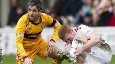 Keith Lasley was sent off for his challenge on Fraser Fyvie