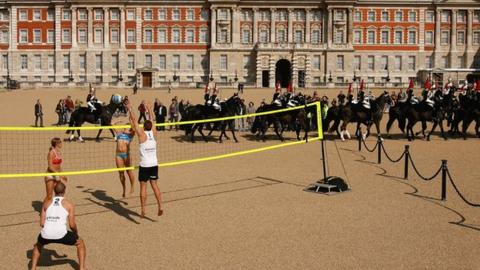Beach volleyball on Horse Guards Parade
