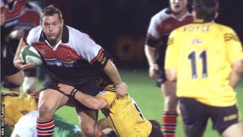 Matt Taylor in action for Edinburgh in 2001