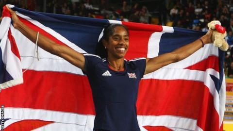 Yamile Aldama won gold at the World Indoor Athletic Championships