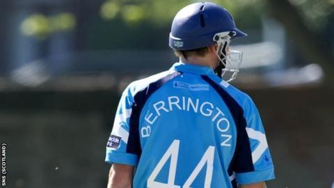 Scotland player Richie Berrington