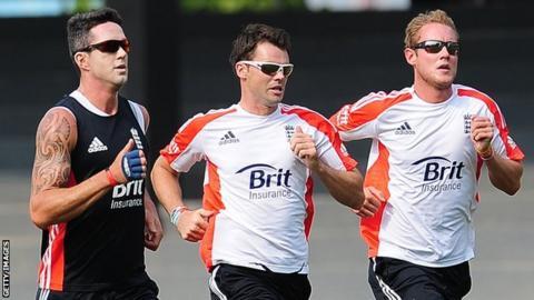Kevin Pietersen, James Anderson & Stuart Broad