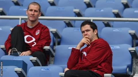Stuart Lancaster and Andy Farrell