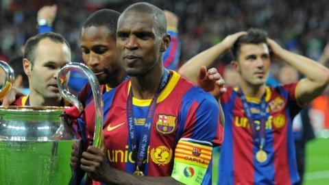Barcelona defender Eric Abidal