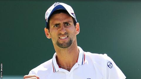 World number one Novak Djokovic