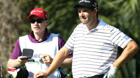 Padraig Harrington (right) had much to ponder on day two