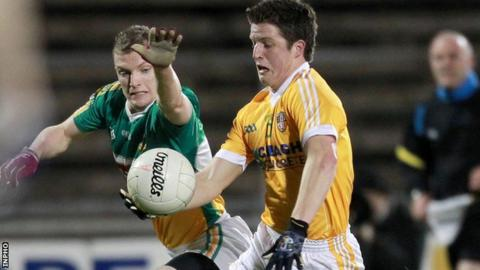 Tomas McCann scored Antrim's goal from a penalty