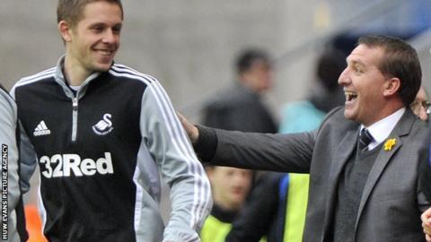 Gylfi Sigurdsson and Brendan Rodgers