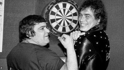 Jocky Wilson and Bobby George