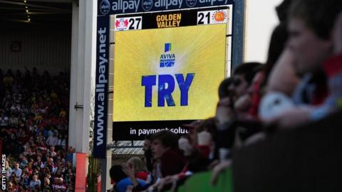 Exeter are awarded their winning try